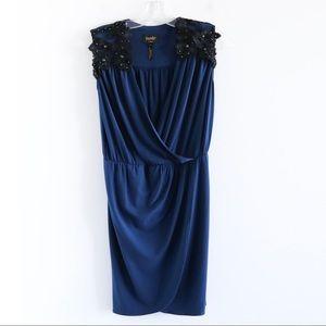 Laundry Shelli Seagul dark navy wrap lace detail